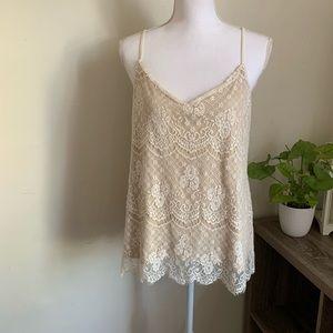 🌛Maurice's 🌛 cream lace camisole